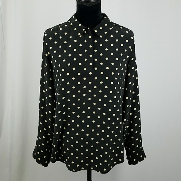 63a826dec9f8a Gallery Source · Equipment Tops Women S Blouse Silk Polka Dot Pull Over  Poshmark
